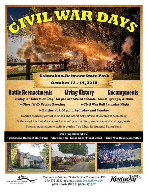 Civil War Days At Columbus Belmont State Park Oct 12 14